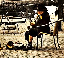 Sax player in Prague by nayamina