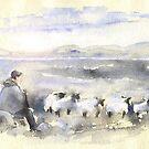 Sheep In Ireland by Goodaboom