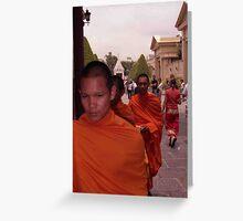 BUDDHIST MONKS Greeting Card