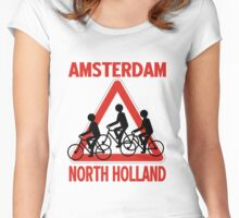AMSTERDAM, NORTH HOLLAND Women's Fitted Scoop T-Shirt