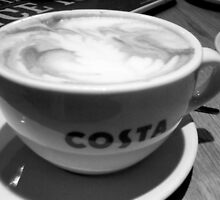 COFFEE AT COSTA by Terry Collett