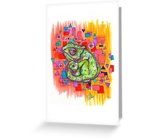 Curly Chameleon Greeting Card