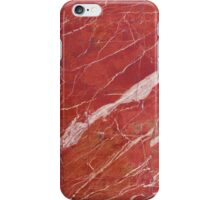 Red marble stone iPhone Case/Skin