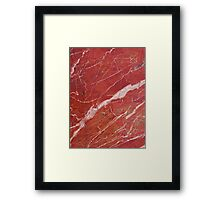 Red marble stone Framed Print