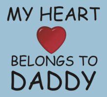 MY HEART BELONGS TO DADDY Kids Tee