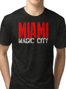 Miami Magic City 305 Wynwood South Beach Tri-blend T-Shirt