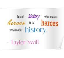Taylor Swift Quote Poster