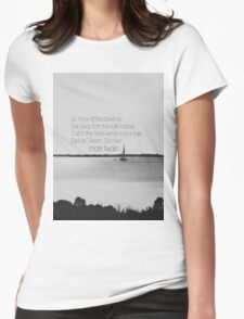 Mark Twain Explore Womens Fitted T-Shirt