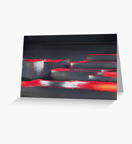 Red Maze Greeting Card
