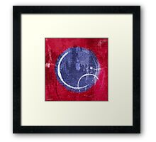Textured Blue Moon Framed Print
