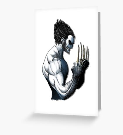 The Wolverine Blue  Greeting Card