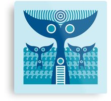 whale tails Metal Print