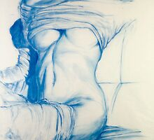 Bluegirl - Conté on Paper - December 2005 by Nicholas Vincent