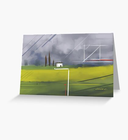 Geometrical Landscape I Greeting Card