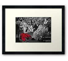 Ƹ̴Ӂ̴Ʒ BUTTERFLY WISHES PICTURE/CARD Ƹ̴Ӂ̴Ʒ Framed Print