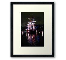 The Columbia_Refection upon the Waters of Time Framed Print