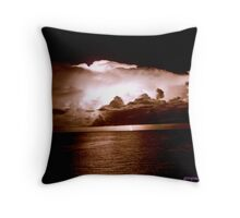 lighning and thunder.. Throw Pillow