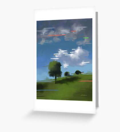 Highspeed landscape I Greeting Card