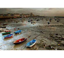 Barfleur à marée basse... Photographic Print