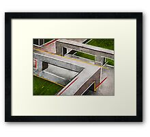 Concrete footbridge I Framed Print