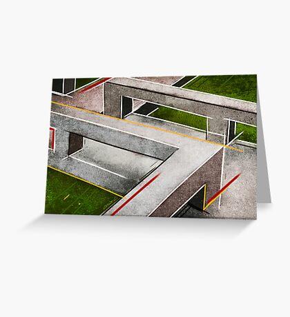 Concrete footbridge I Greeting Card