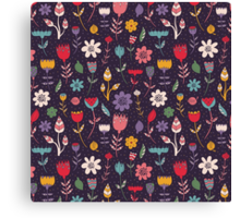 Colorful Abstract Floral Pattern Canvas Print