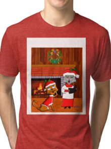 Have A Holly Molly Christmas Tri-blend T-Shirt
