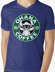 Ohana Coffee Mens V-Neck T-Shirt