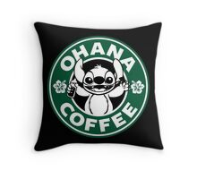 Ohana Coffee Throw Pillow