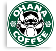 Ohana Coffee Canvas Print