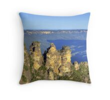 Sisters in the Mountains Throw Pillow