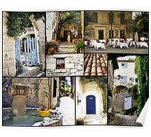 South of France Collage Poster