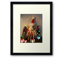 Rhino's Excellent Christmas Framed Print