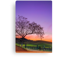Sunset by the Gate - Gloucester NSW Australia Canvas Print