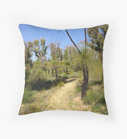 Track through the bush Throw Pillow