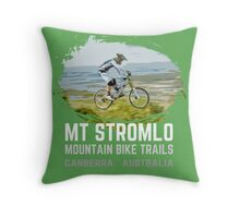 Mt Stromlo Downhill MTB Throw Pillow