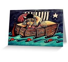Little Viking Girl, Erica the Red Greeting Card