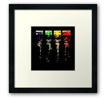 An Incident Involving Four Bottles... Framed Print