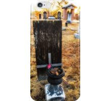 Soldier of 1776 at sunrise iPhone Case/Skin