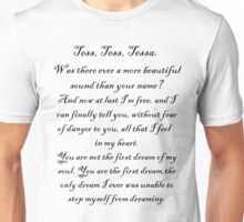 Will's incription to Tessa Unisex T-Shirt