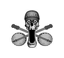 Skull and Banjos Photographic Print