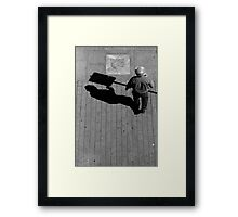 Does it hurt if your shadow bumps into something? Framed Print