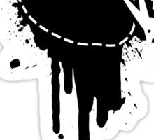 Cut Your Losses (black) Sticker