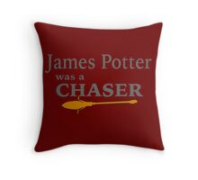 James Potter was a Chaser Throw Pillow