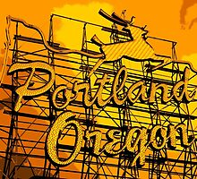 Welcome to Portland (Posterized Orange) by AmishElectricCo