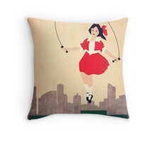 Skipping Girl Vinegar Throw Pillow