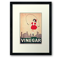 Skipping Girl Vinegar Framed Print