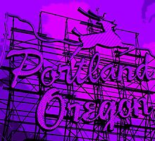 Welcome to Portland (Posterized Purple) by AmishElectricCo