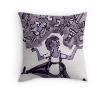 juggle woman Throw Pillow