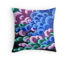 stormclouds of colour Throw Pillow